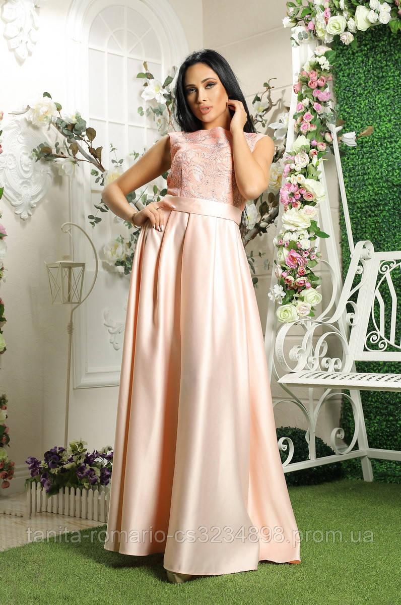 Вечернее платье 8020e Коралловый L(р)