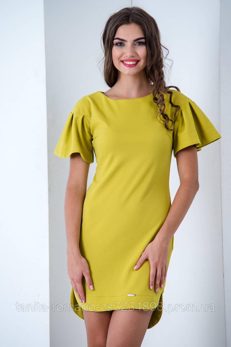 Повседневное платье 6172e Горчица L(р)