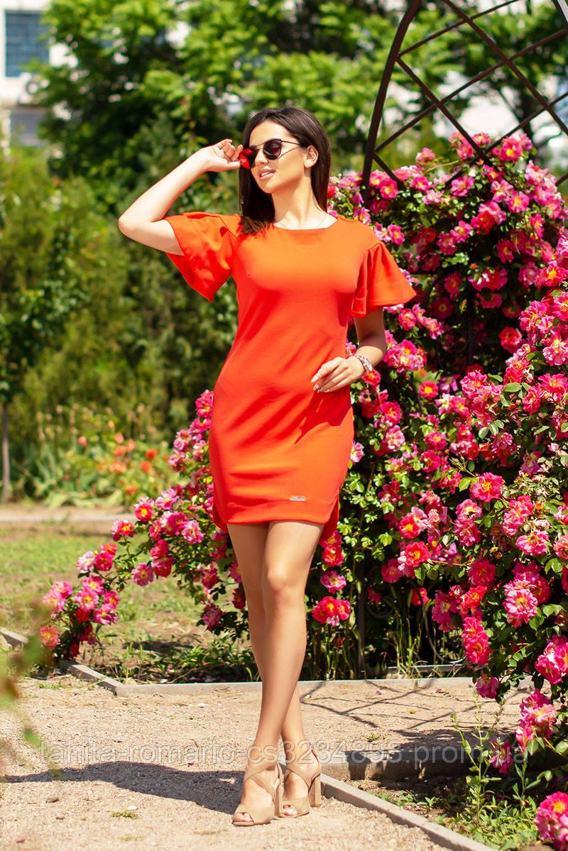 Повседневное платье 6172e Оранжевый L(р)