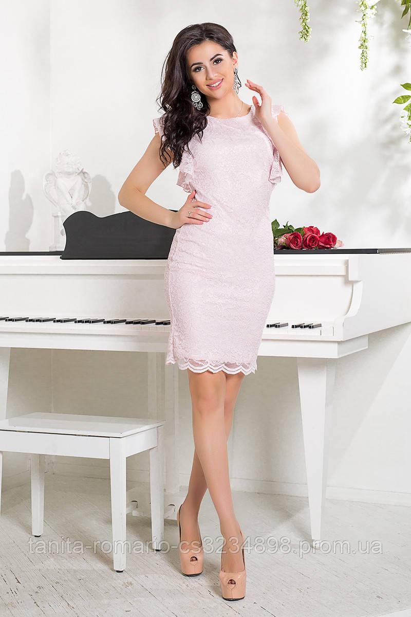 Коктейльное платье 7171e Розовый S(р)