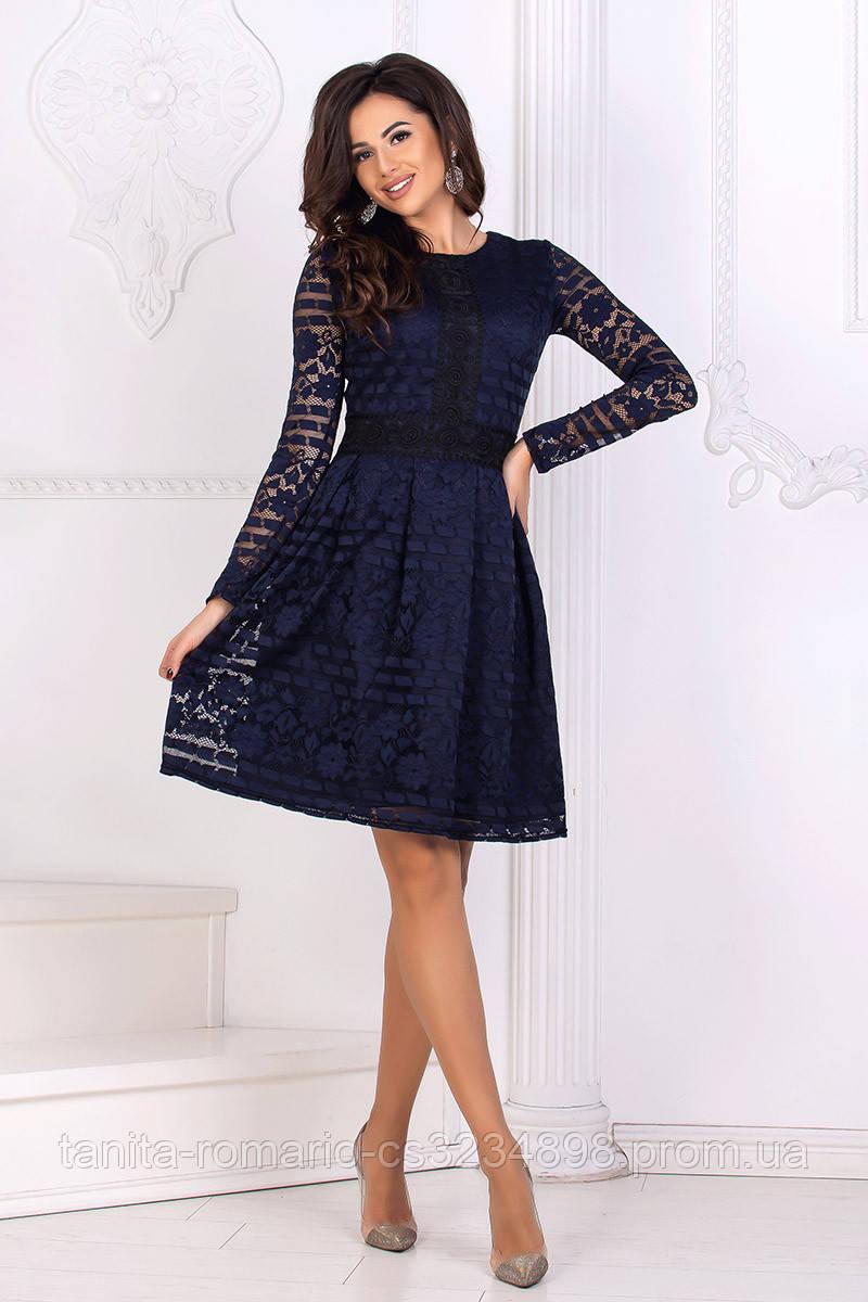 вседневное платье орнамент  Синий
