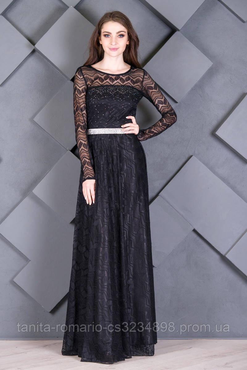 Вечернее платье 7226e Чёрный L(р)