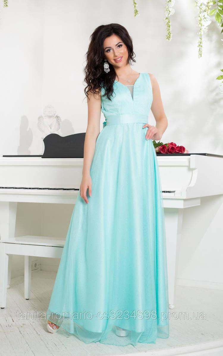 Вечернее платье 8037e Мятный L(р)