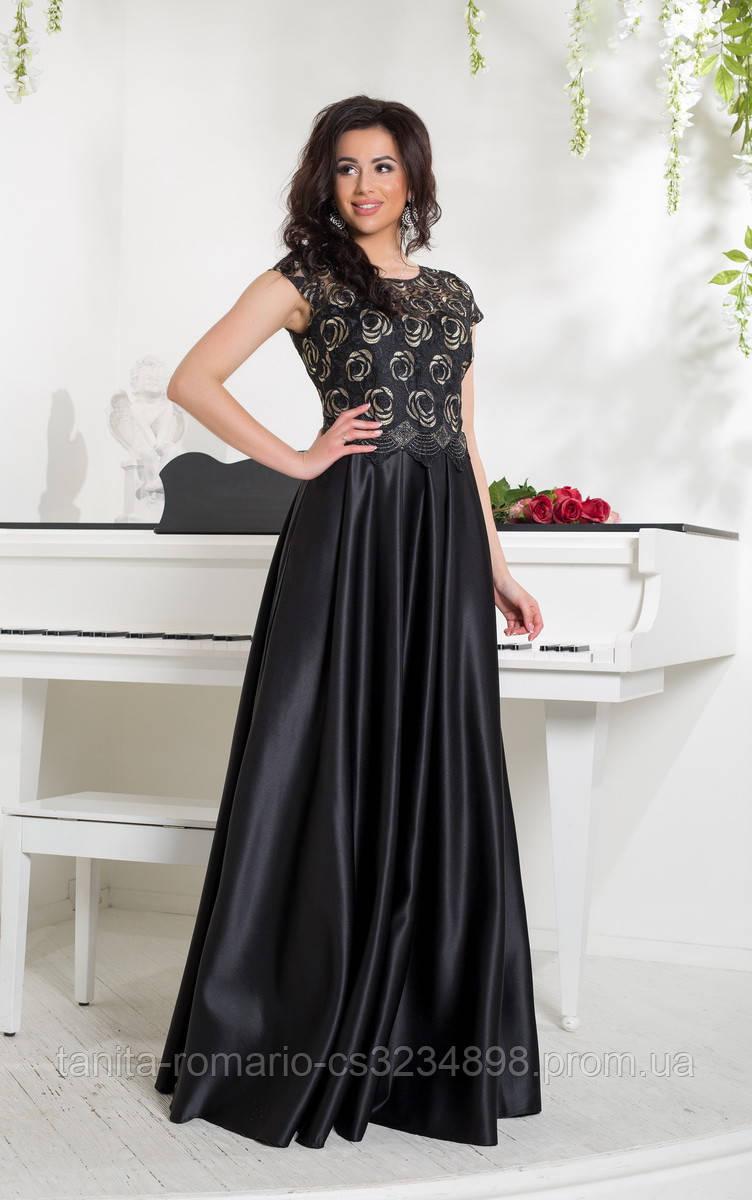 Вечернее платье 8042e Чёрный L(р)