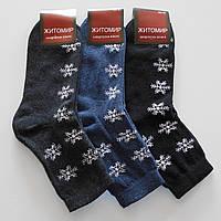 Женские махровые носки Житомир - 9.50 грн./пара (Снежинки), фото 1
