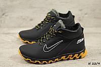 Мужские кожаные зимние кроссовки Nike  (Реплика) (Код: N 22/9  ) ►Размеры [40,41,42,43,44,45]