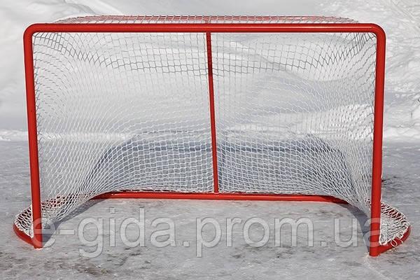 Сітка для хокею з шайбою ПА40х2 (комплект 2шт) сетка безузловая хоккейная