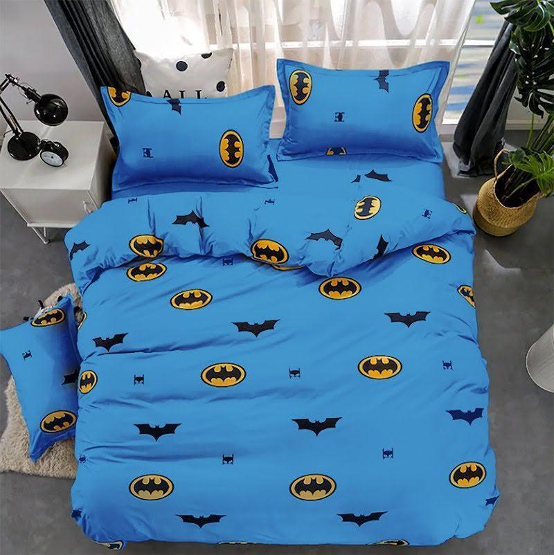 Комплект двуспального постельного белья Бетмен на синем