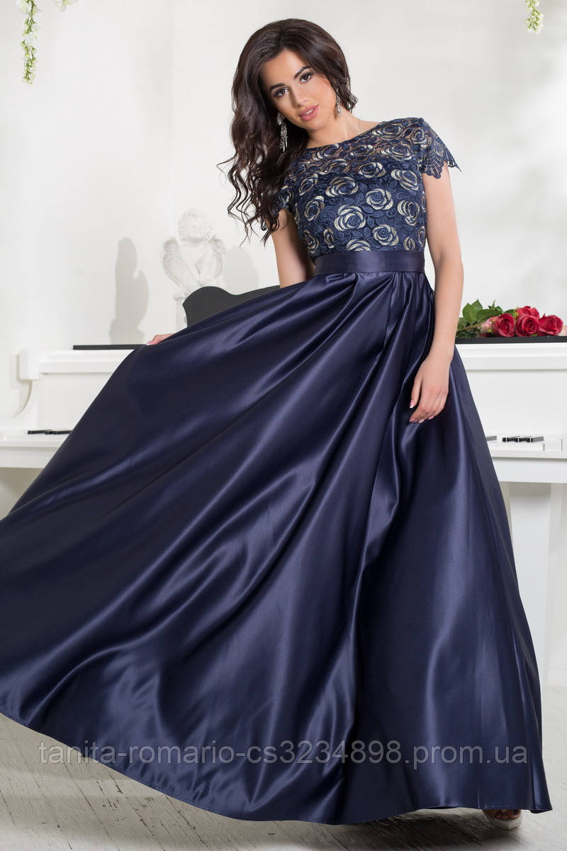 Вечернее платье 8038e Синий M(р)