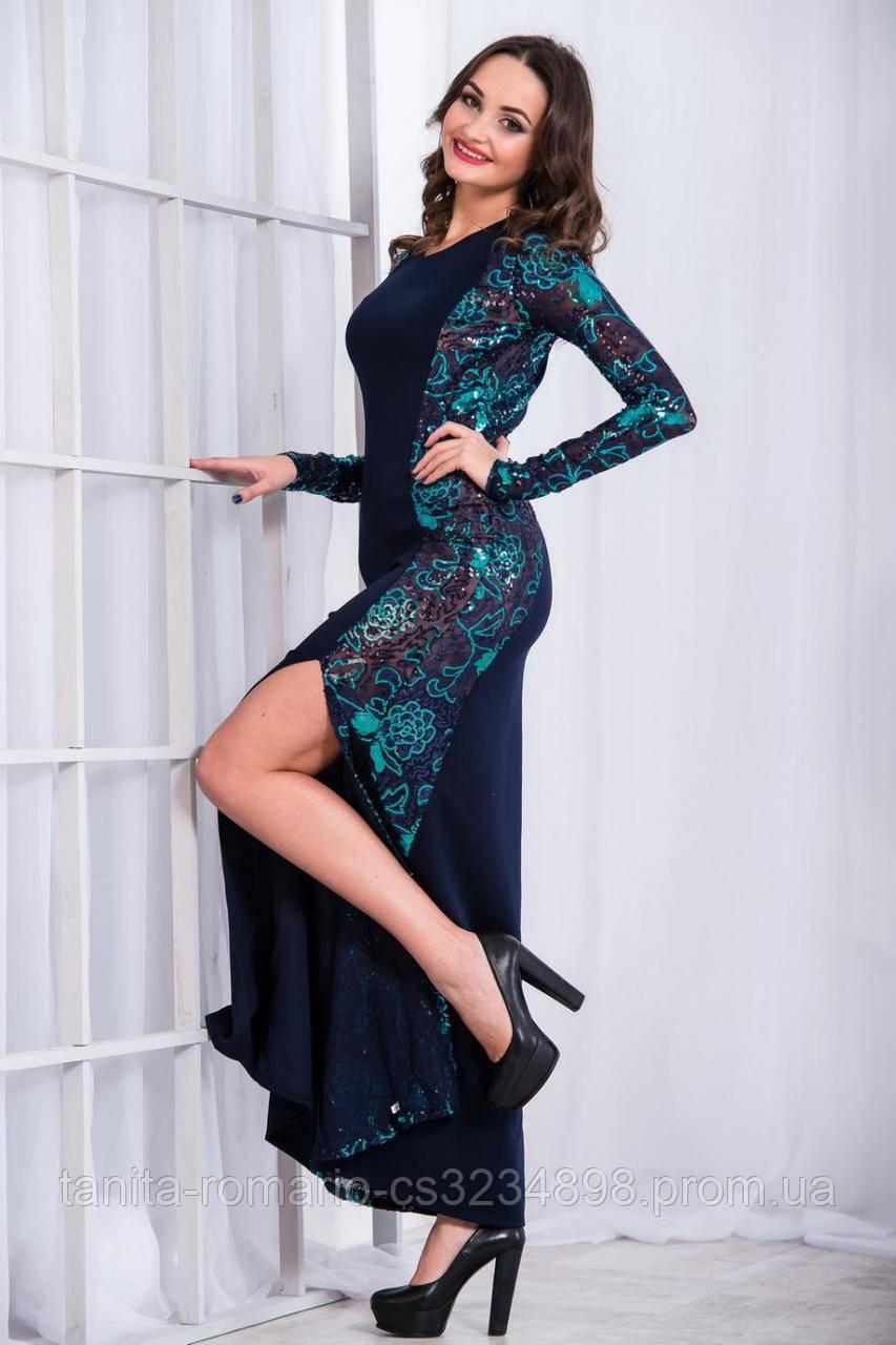 Вечернее платье 4350e Изумрудный S(р)