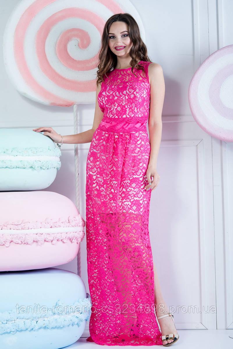 Вечернее платье 4149e Малиновый M(р)