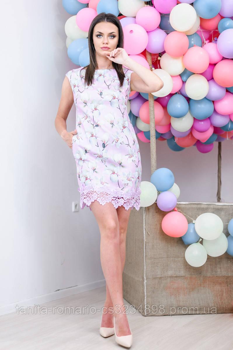 Повседневное платье 7133e Сиреневый M(р)
