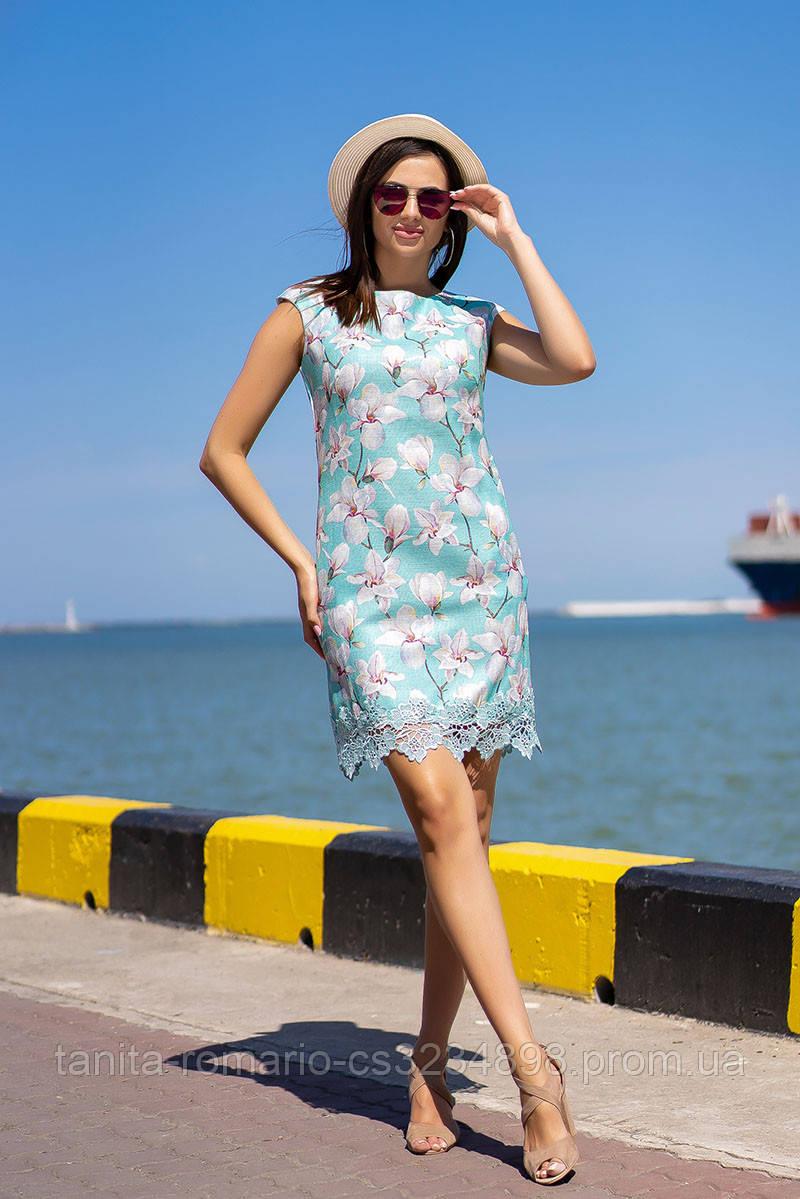 Повседневное платье 7133e Мятный L(р)