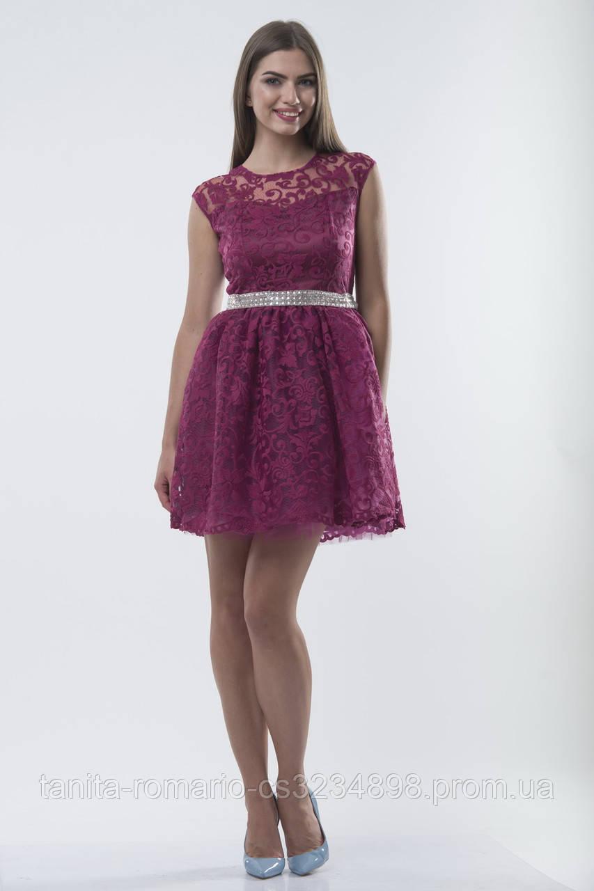 Коктейльное платье 7186e Марсала M(р)