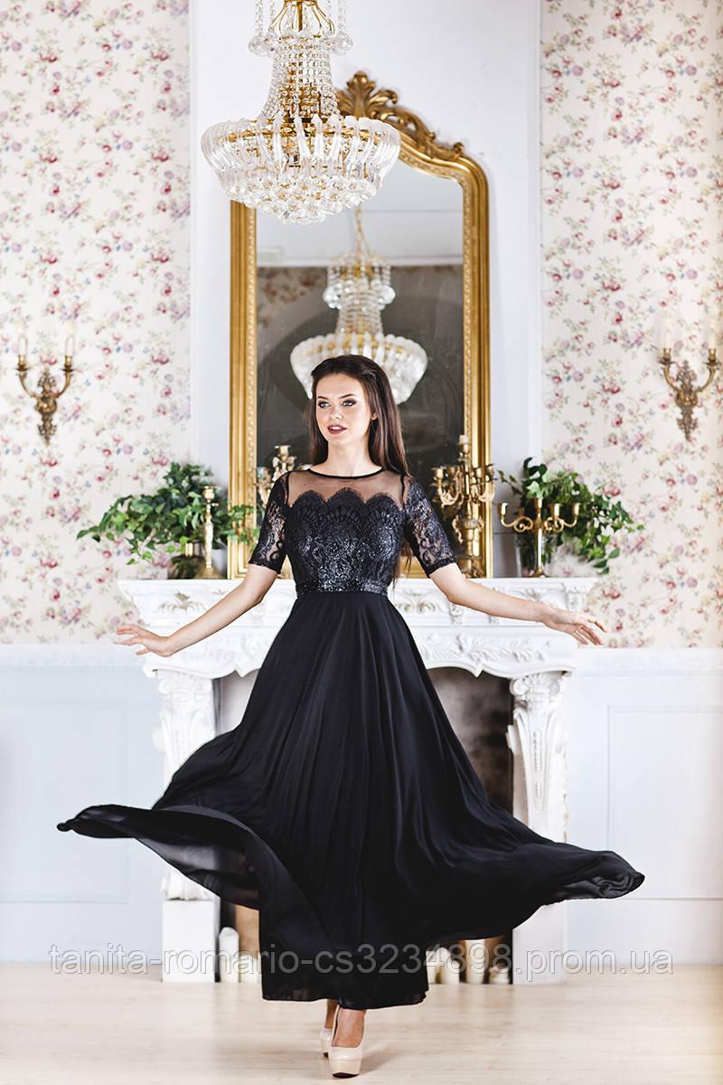 Вечернее платье 7177e Чёрный S(р)