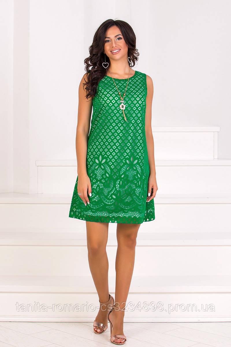 Повседневное платье 7143e Зелёный L(р)
