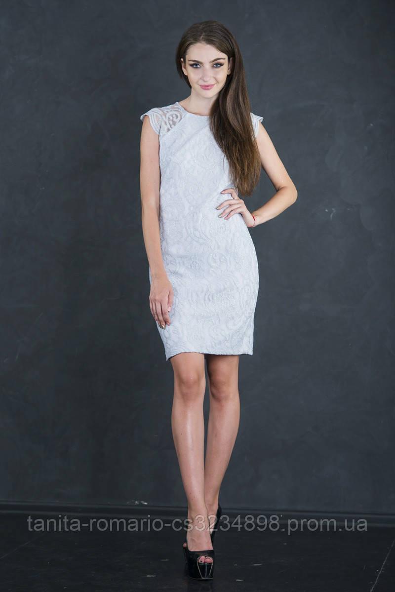 Коктейльное платье 7139e Серый S(р)