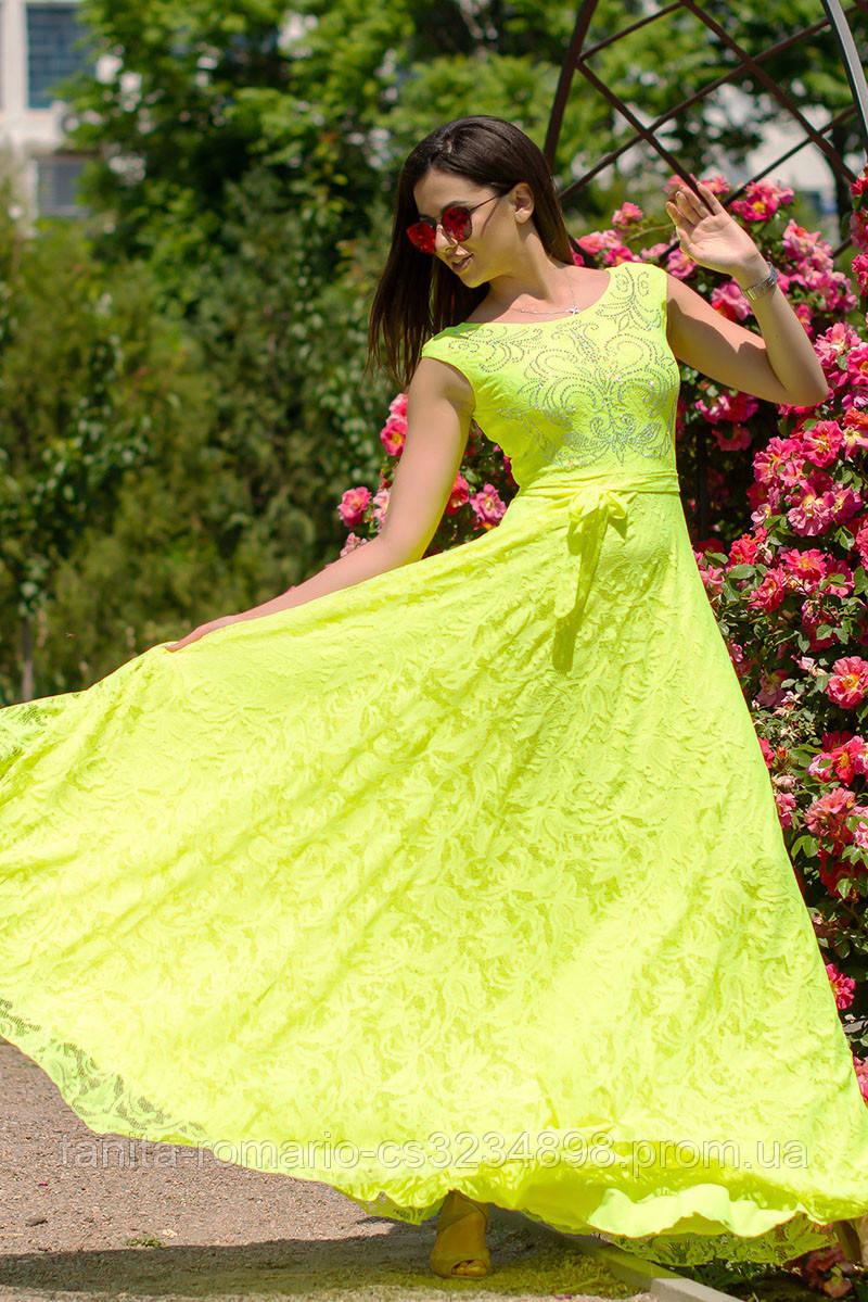 Вечернее платье 6110e Жёлтый M(р)