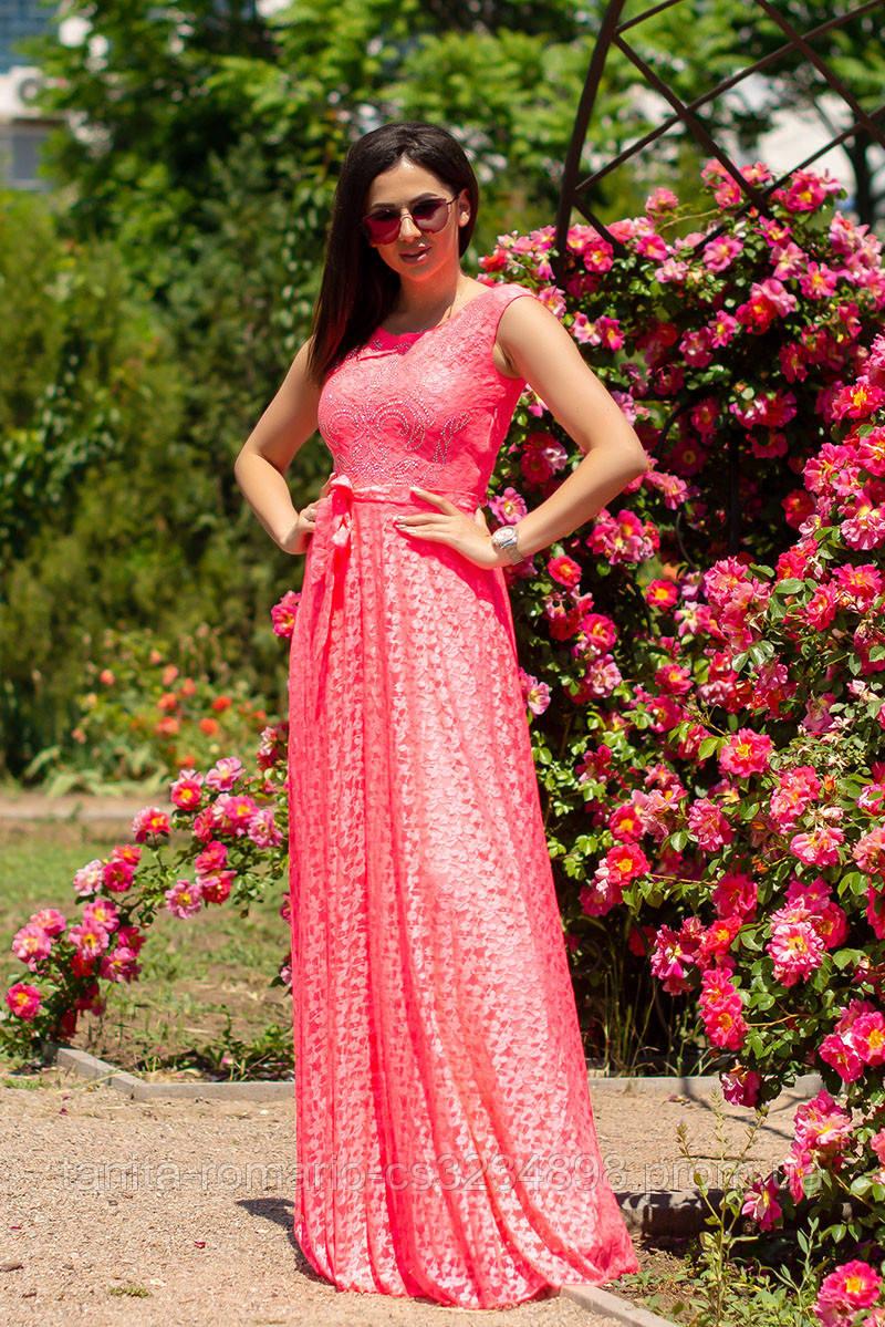 Вечернее платье 6110e Розовый M(р)