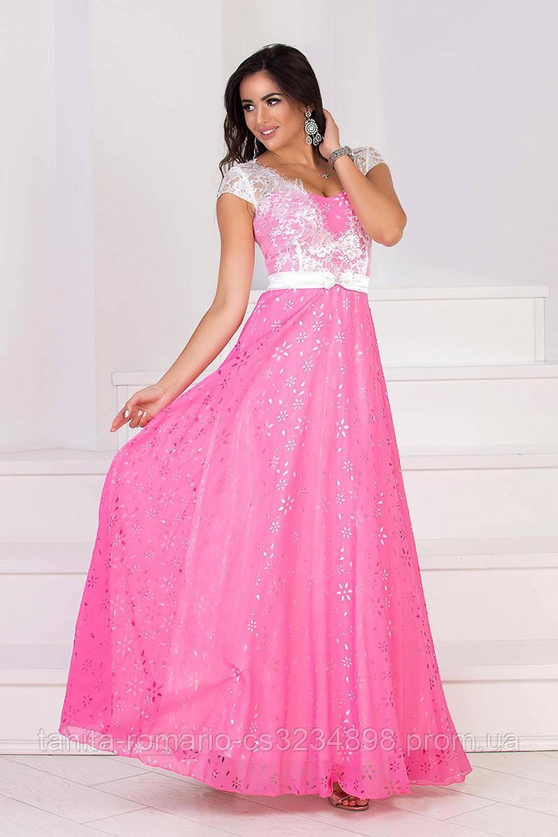 Вечернее платье 6024e Розовый M(р)