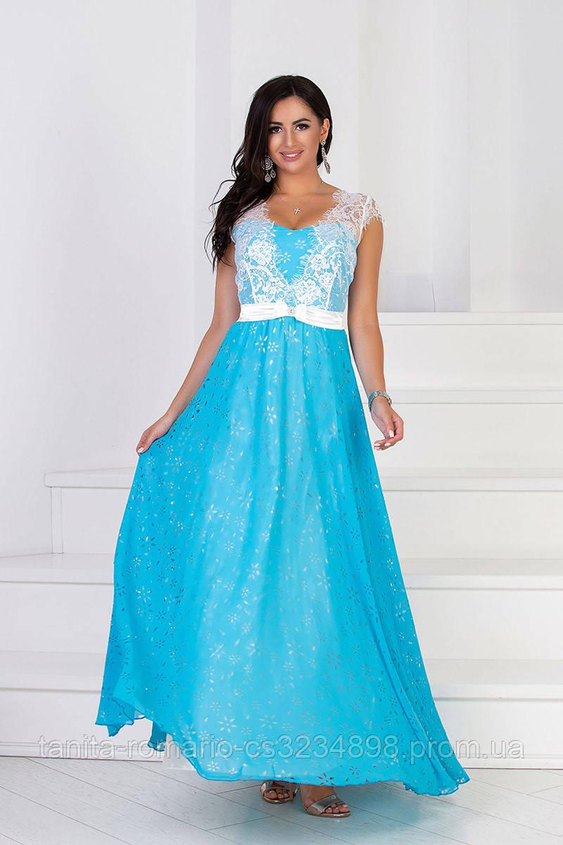 Вечернее платье 6024e Голубой M(р)