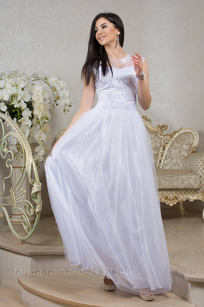 Вечернее платье 7040e Белый M(р)