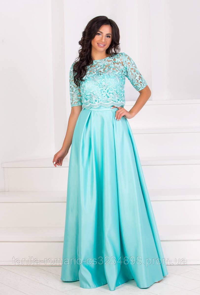Вечернее платье 8056e Мятный L(р)