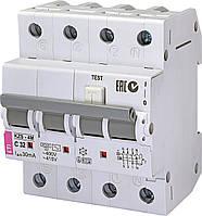 Дифференциальный автомат ETI KZS-4M 3P+N С 32A 6kA 30mA AC (2174027)
