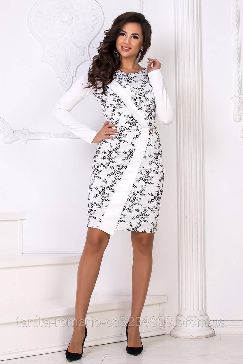 Повседневное платье 7224e Белый L(р)