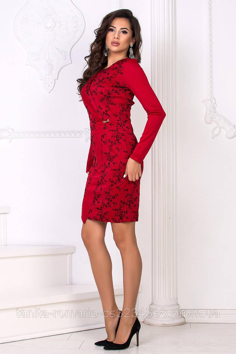 Повседневное платье 7224e Красный L(р)