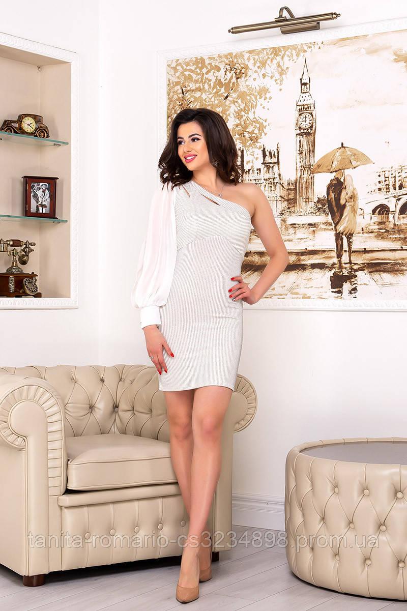 Повседневное платье 3194e Молочный M(р)