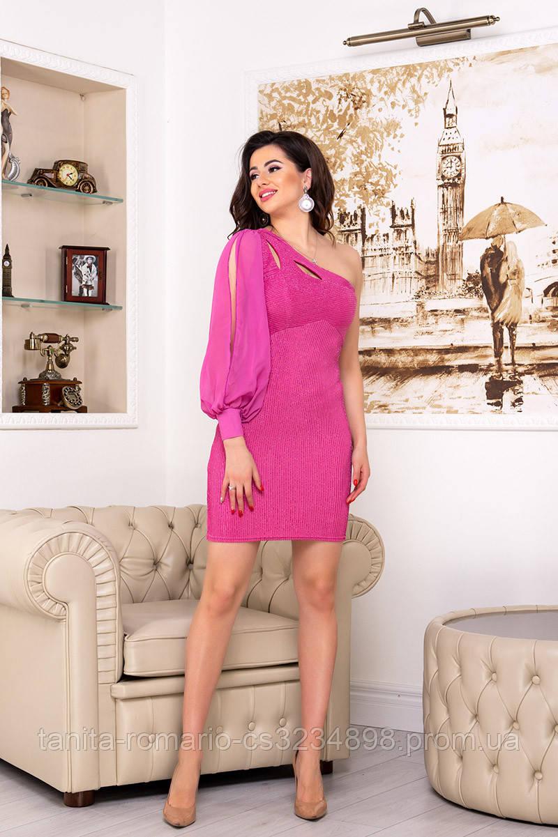 Повседневное платье 3194e Розовый M(р)