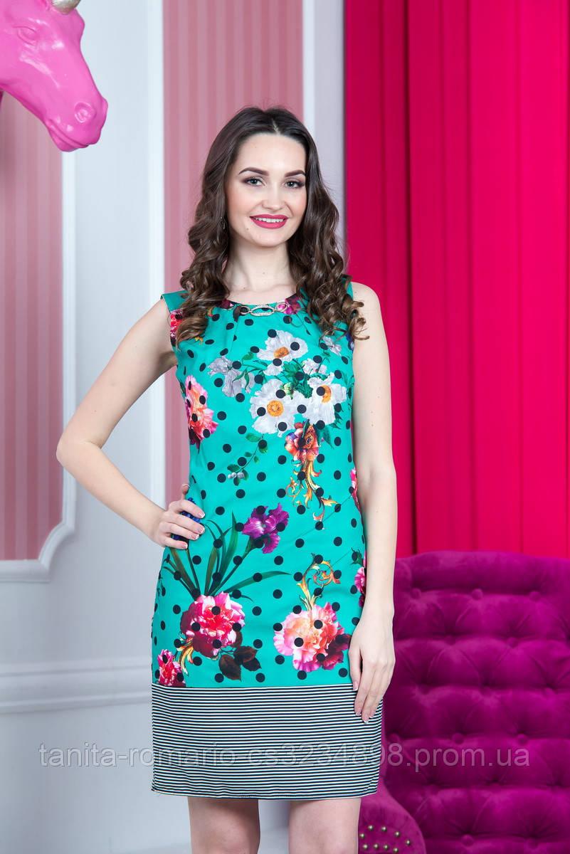 Повседневное платье 5120e Зелёный L(р)