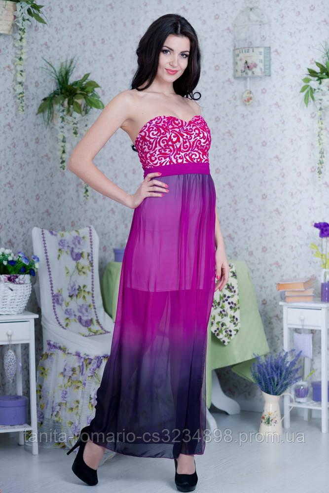 Коктейльное платье 4173e Малиновый L(р)