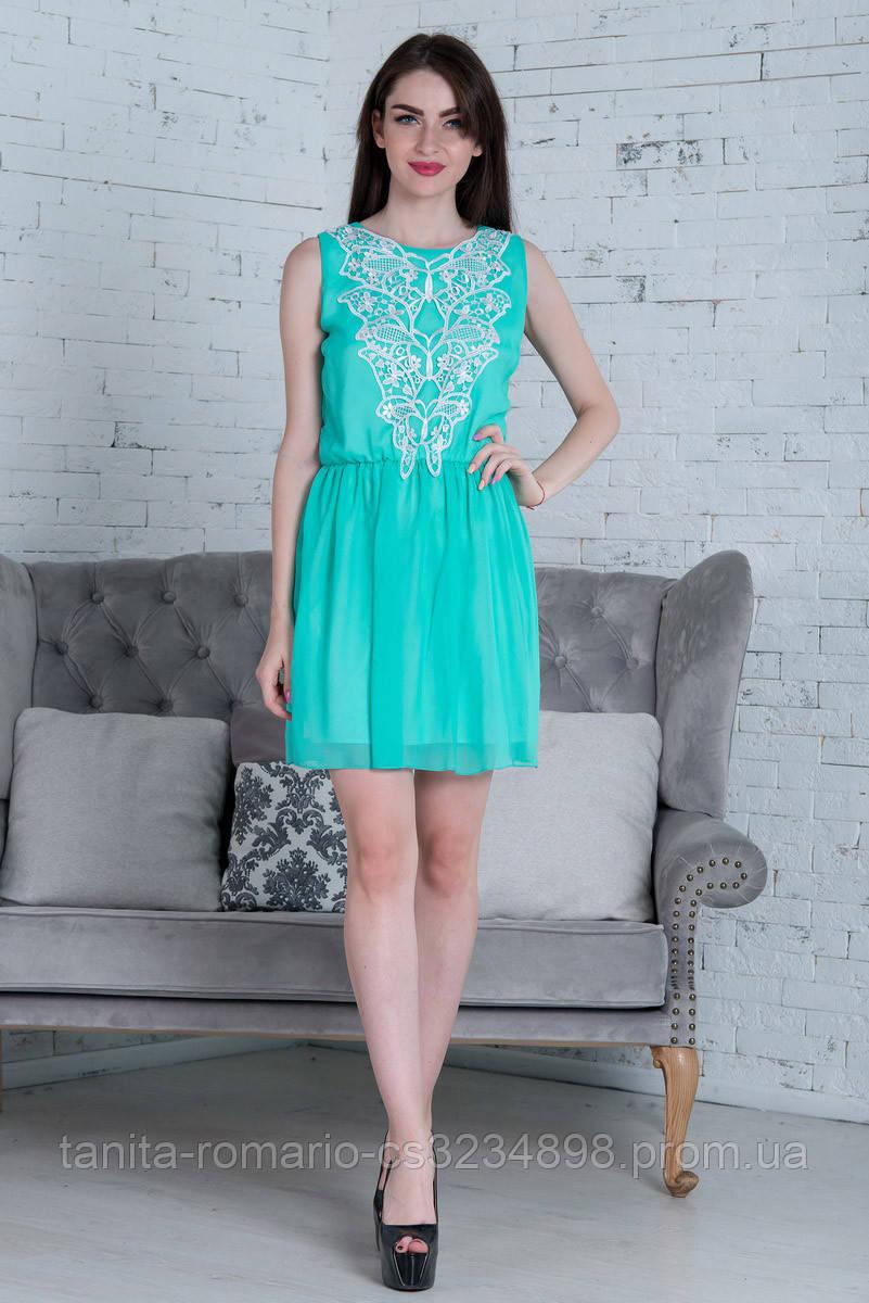 Повседневное платье 5157e Мятный M(р)