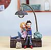 Керамический ночник 3DTOYSLAMP Влюбленная пара в наушниках (k0217)