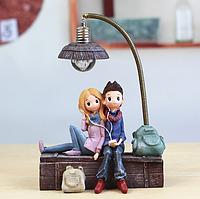 Керамический ночник 3DTOYSLAMP Влюбленная пара в наушниках (k0217), фото 1