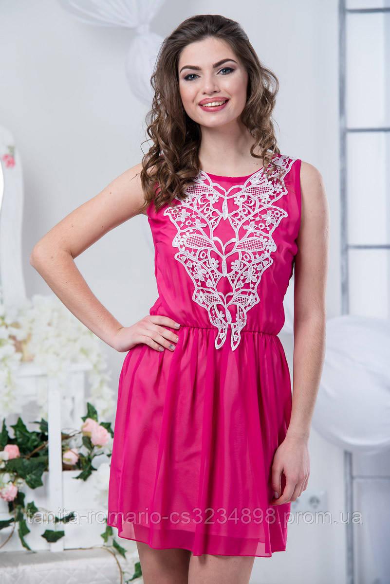 Повседневное платье 5157e Малиновый M(р)