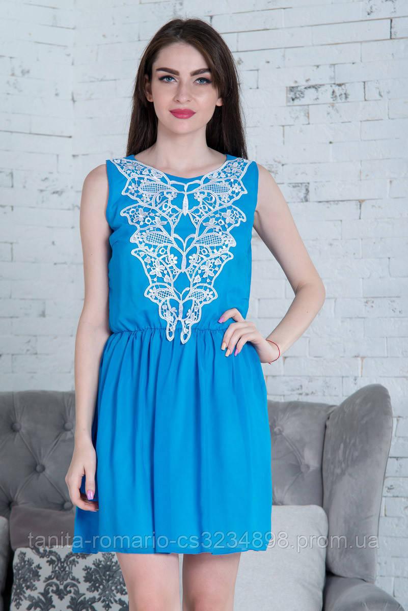 Повседневное платье 5157e Голубой M(р)