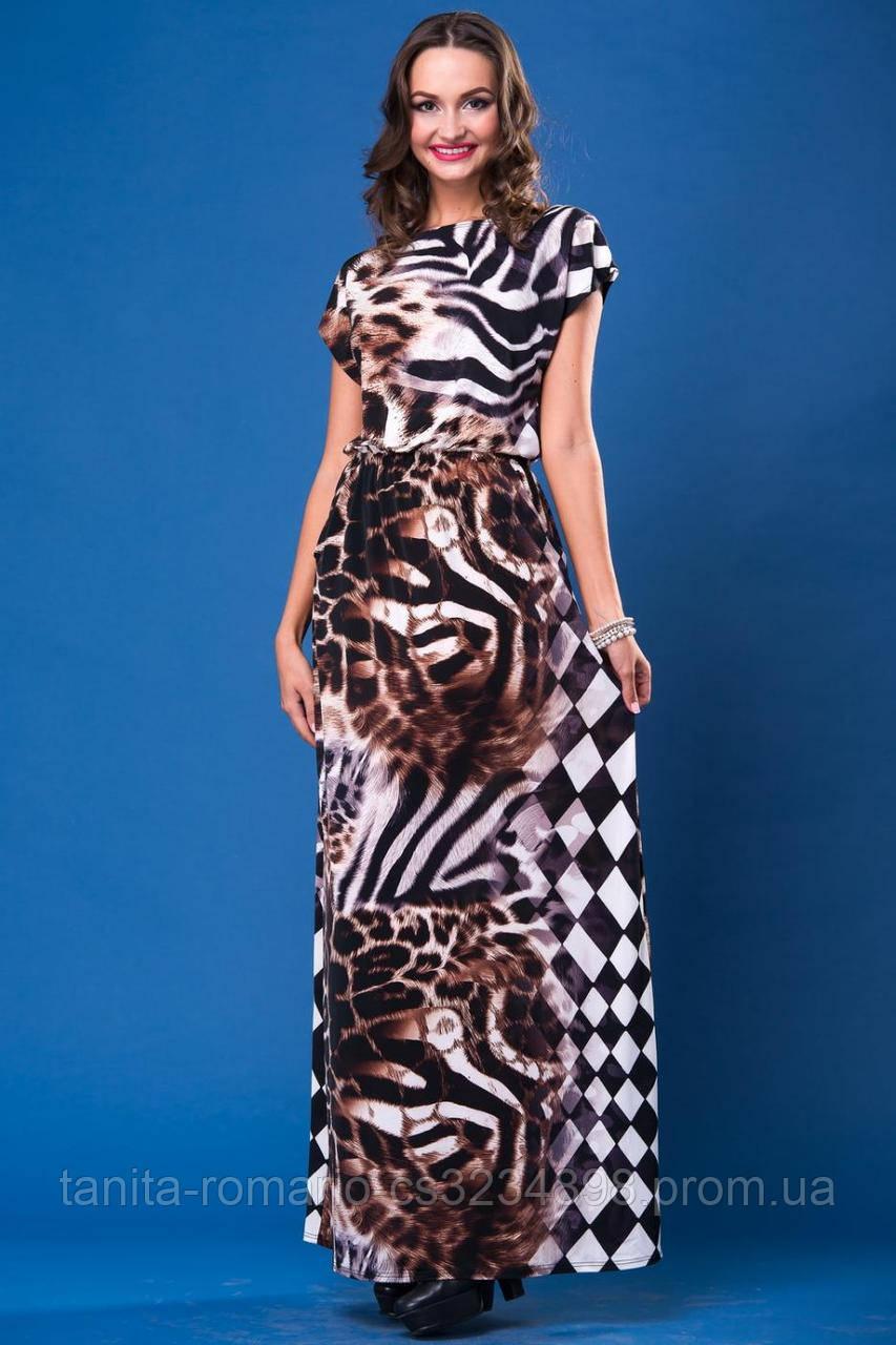 Повседневное платье 4217e Коричневый L(р)