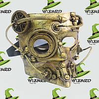 Маска винтажная стимпанк Баута (золото), фото 1