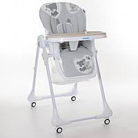 Детский стульчик для кормления M 3233 Teddy Gray Спинка, высота, глубина регулируемая