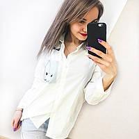 Рубашка с котиком из коттона
