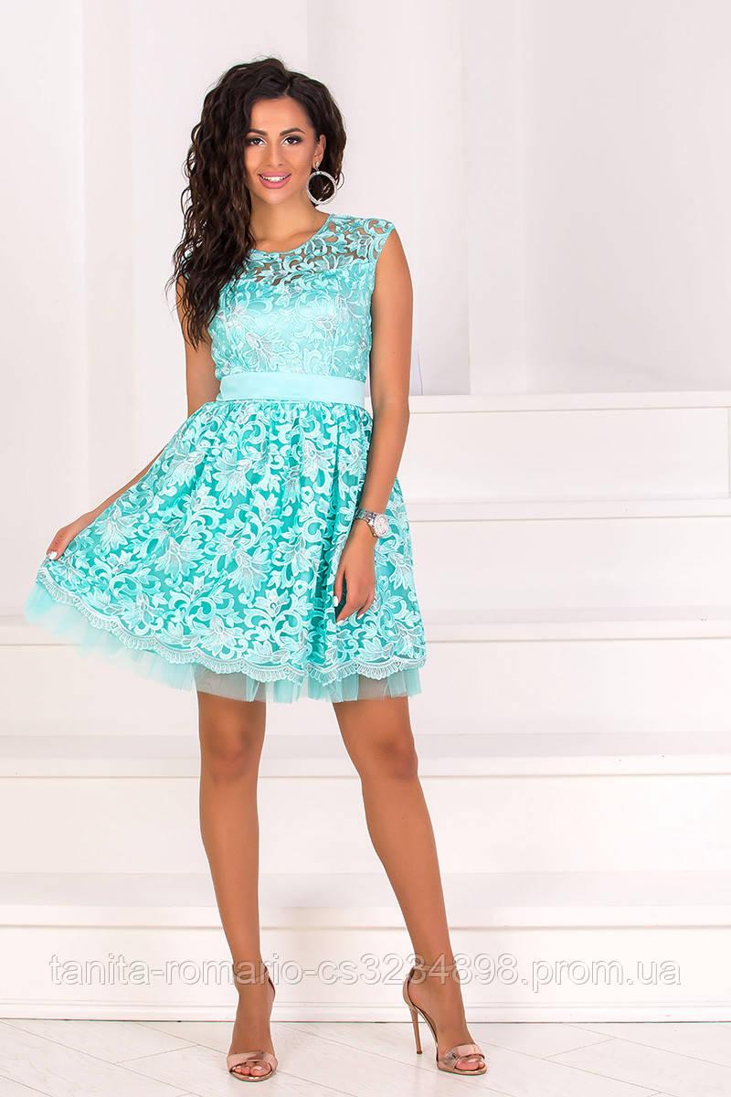 Коктейльное платье 8104e Мятный M(р)