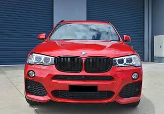 Решетка радиатора BMW X3 F25 ноздри рестайл (14-18) стиль M (черный глянц)