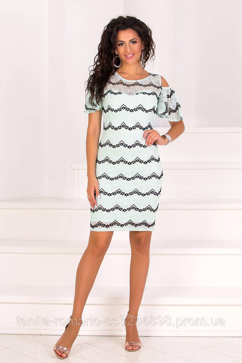 Коктейльное платье 8102e Мятный L(р)