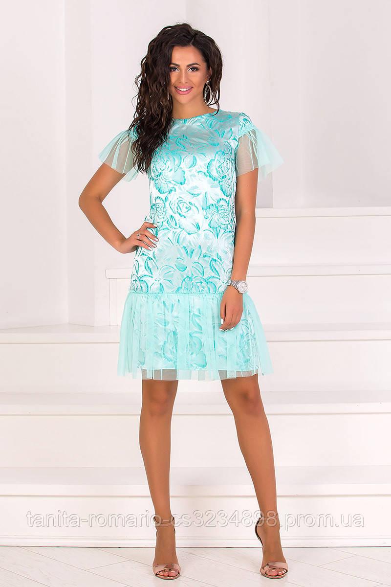 Коктейльное платье 8074e Мятный L(р)