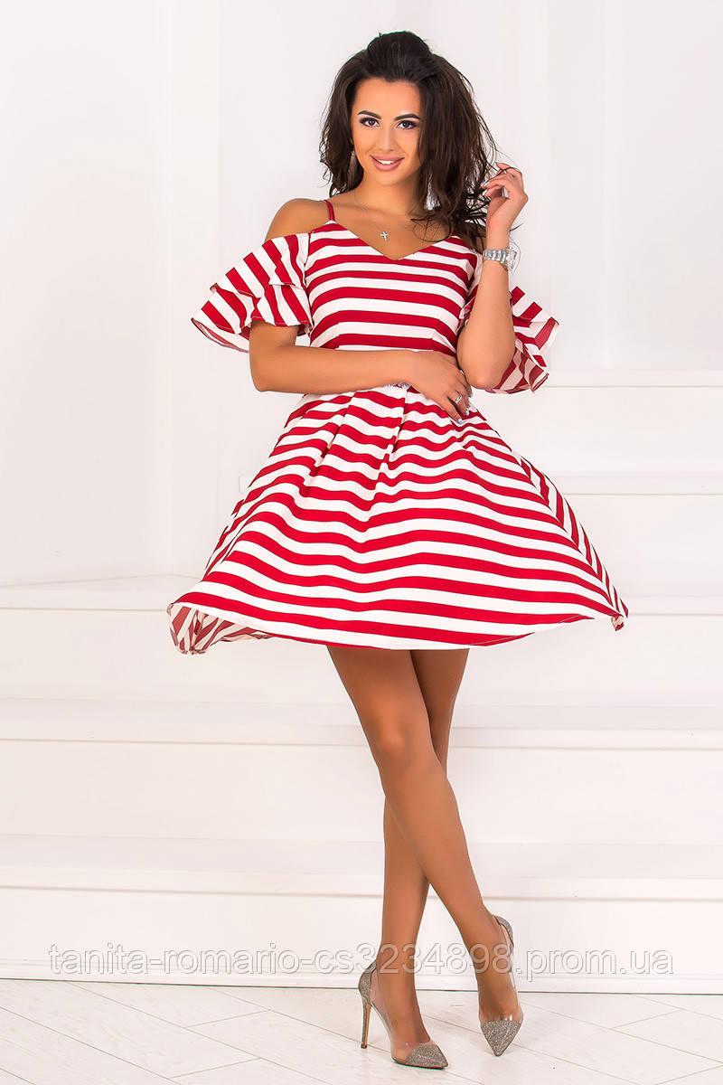 Повседневное платье 8100e Красный L(р)