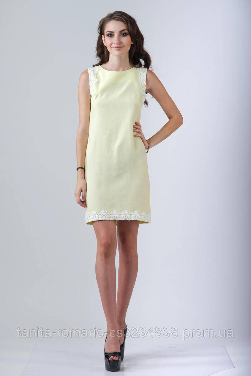 Повседневное платье 7146e Жёлтый L(р)