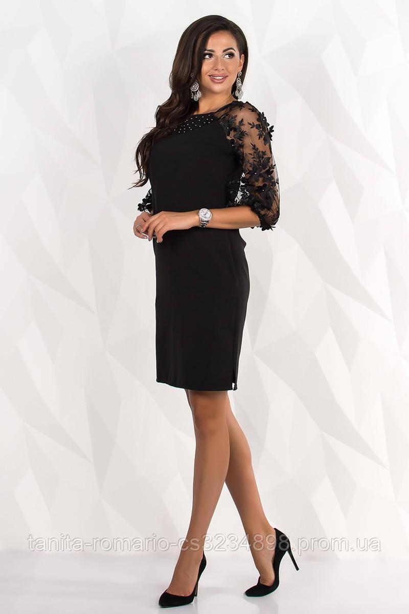 Коктейльное платье 8125e Чёрный L(р)